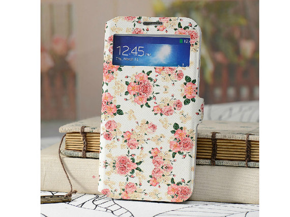 size 40 f7f81 b84c8 Samsung S4 Case For Girls Flower Printing PU Leather Samsung Galaxy S4  Cover, Samsung S4 Phone Cover, Samsung Galaxy S4 Floral Case