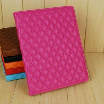 ipad air case , ipad case rhombus square ipad 5 air case ,ipad air smart cover, ipad 4 case stand ,ipad 3 folio case, ipad 2 smart case